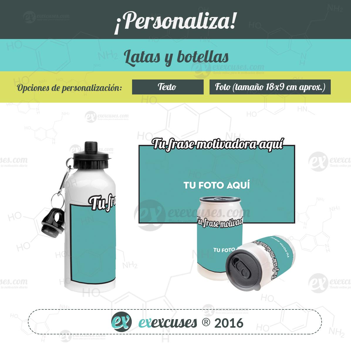 Latas y botellas personalizadas exexcuses®