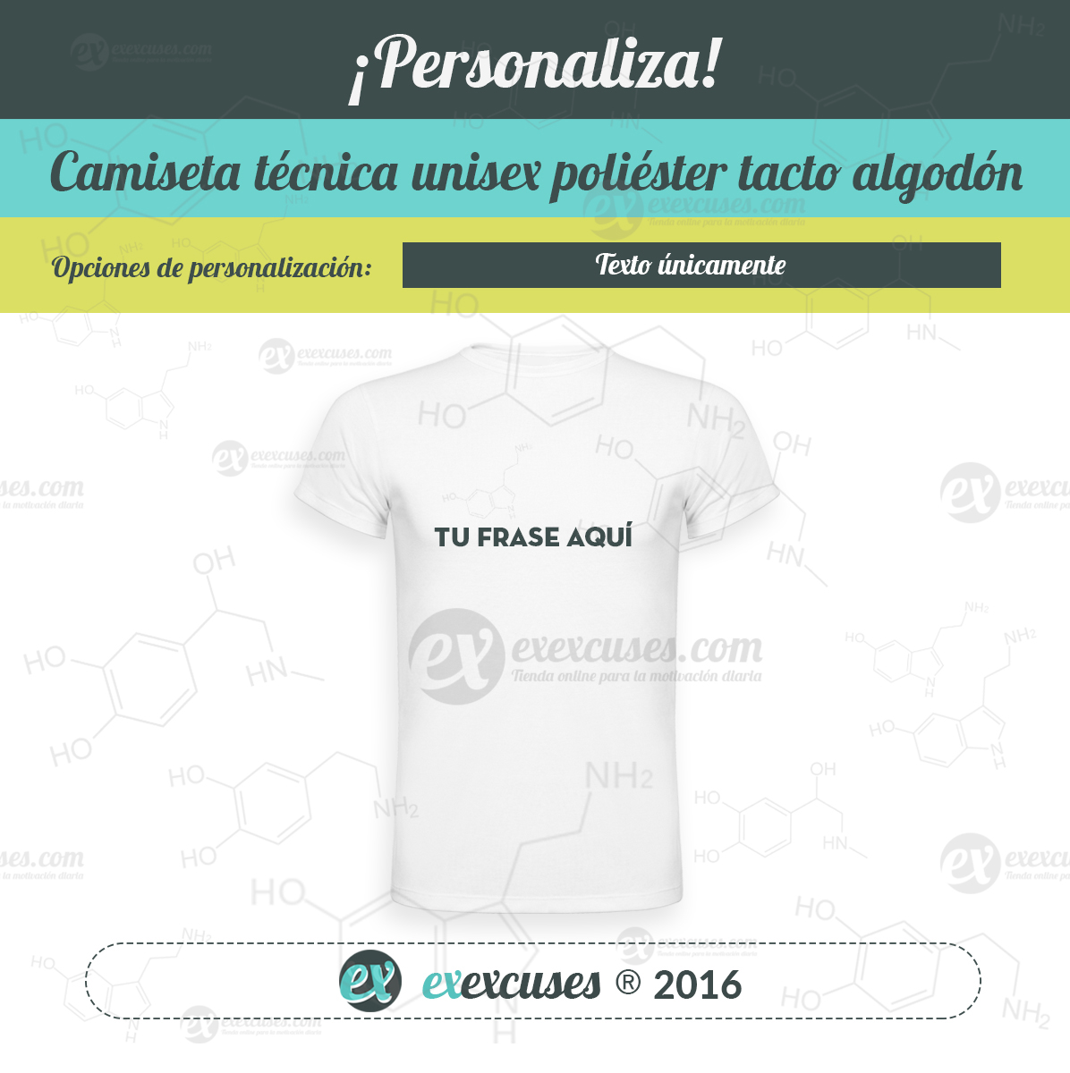 Camiseta poliéster tacto algodón exexcuses®