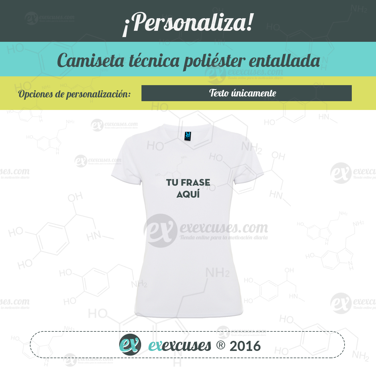 Camiseta poliéster entallada exexcuses®