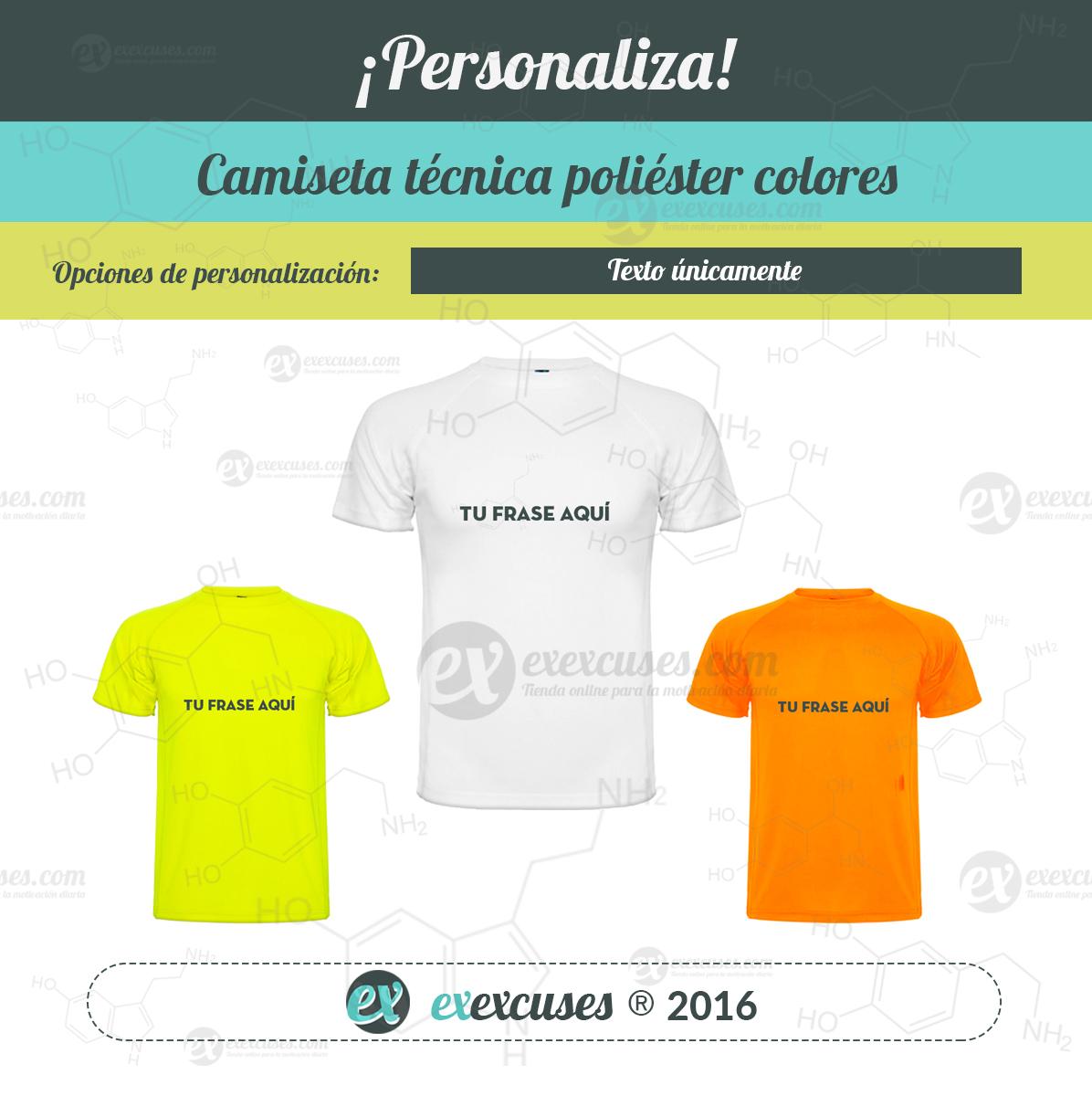 Camiseta técnica unisex exexcuses®