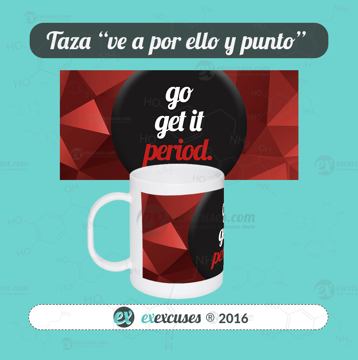 Taza mágica go get it exexcuses®